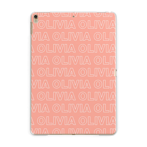 Personalised Peach Name iPad Case