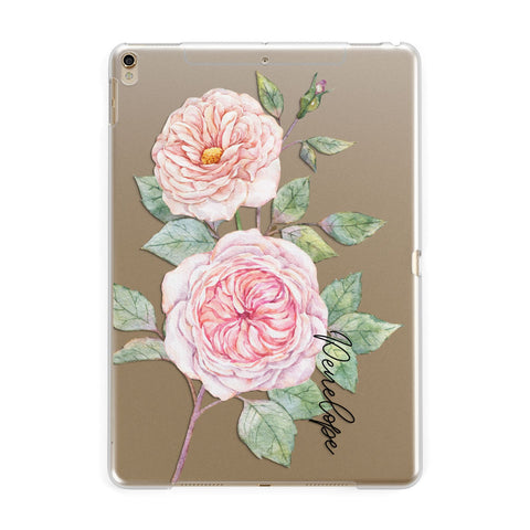Personalised Peonies iPad Case
