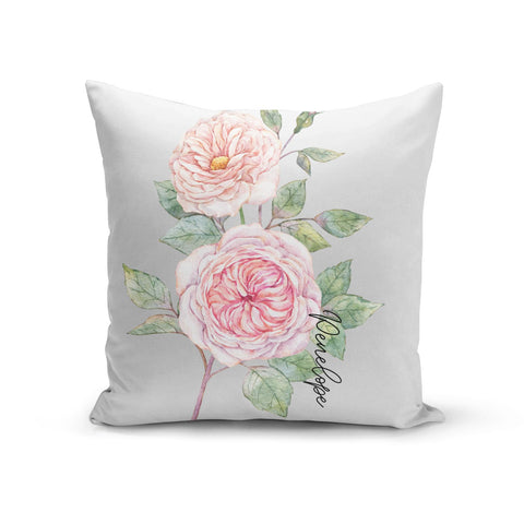 Personalised Peonies Cushion