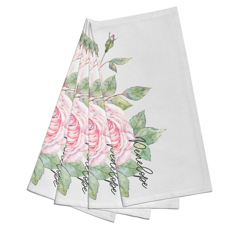 Personalised Peonies Napkins