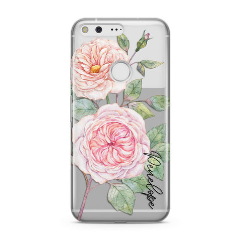 Personalised Peonies Google Case