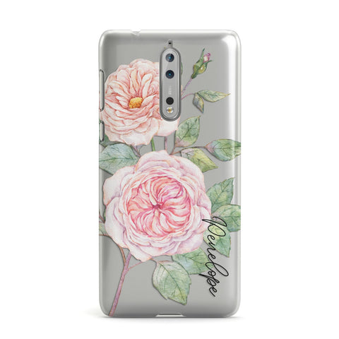 Personalised Peonies Nokia Case