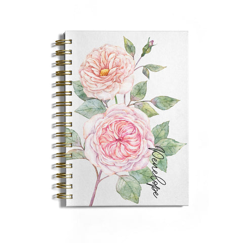 Personalised Peonies Notebook