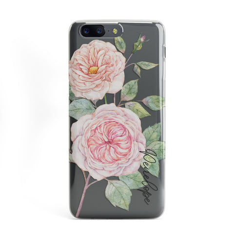 Personalised Peonies OnePlus Case