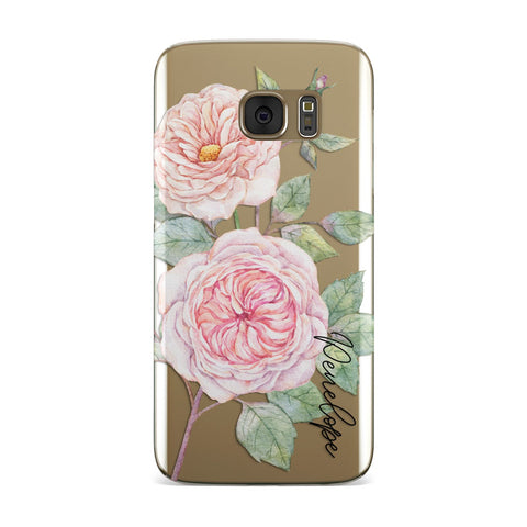 Personalised Peonies Samsung Galaxy Case
