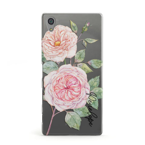 Personalised Peonies Sony Case