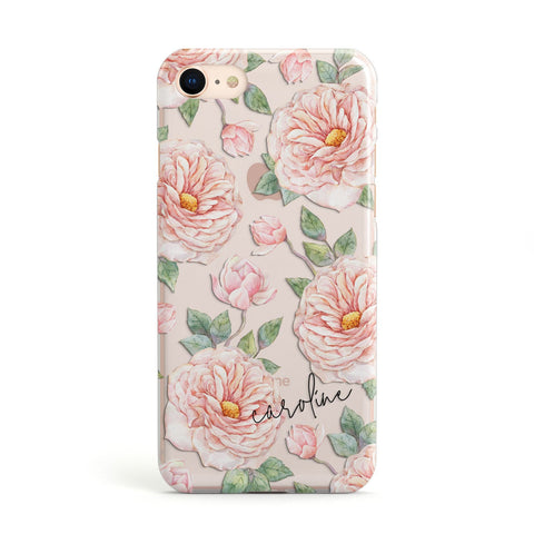 Personalised Peony iPhone Case