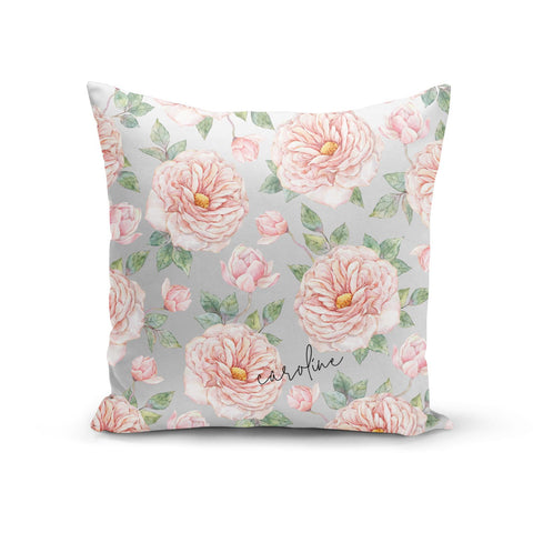 Personalised Peony Cushion