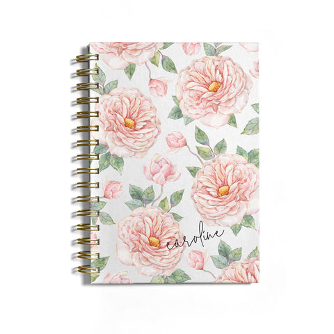Personalised Peony Notebook