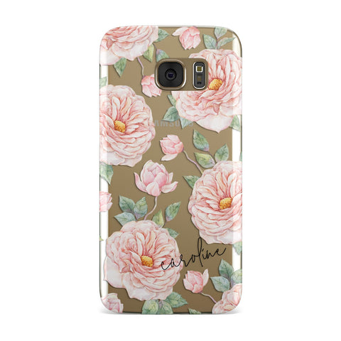 Personalised Peony Samsung Galaxy Case