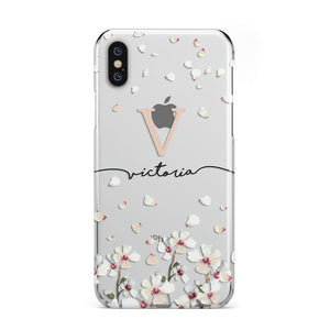 Personalised Petals Apple iPhone Case