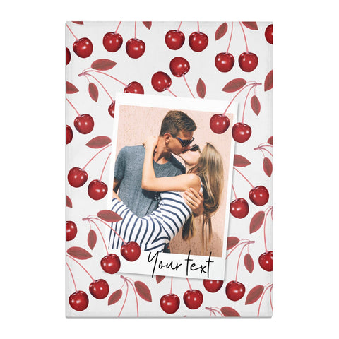 Personalised Photo Cherry Tea Towel