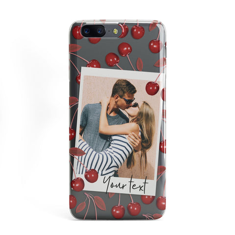 Personalised Photo Cherry OnePlus Case