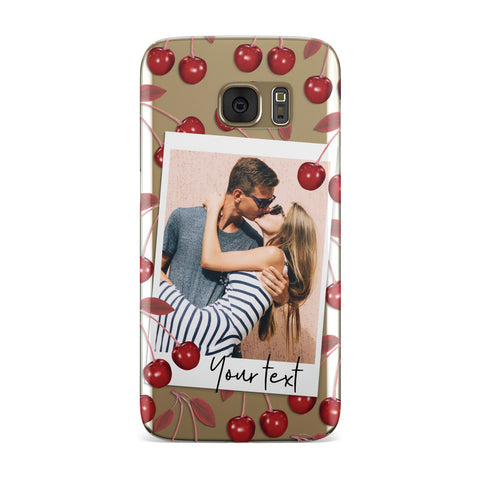 Personalised Photo Cherry Samsung Galaxy Case