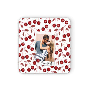 Personalised Photo Cherry Square Coaster