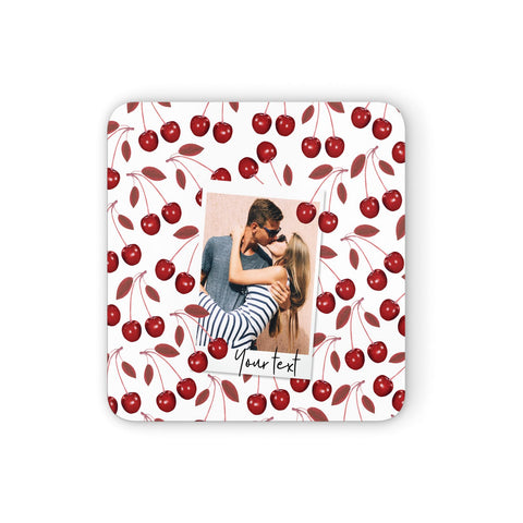 Personalised Photo Cherry Coasters set of 4