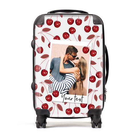 Personalised Photo Cherry Suitcase