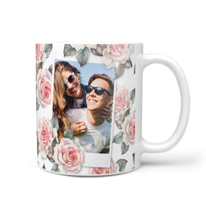 Personalised Photo Floral 10oz Mug