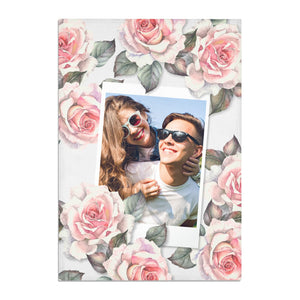 Personalised Photo Floral Cotton Tea Towel