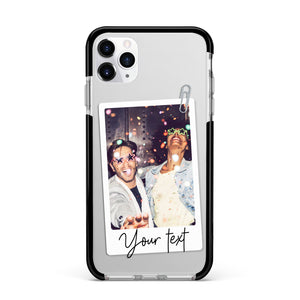 Personalised Photo with Text Apple iPhone Case