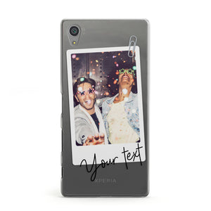 Personalised Photo with Text Sony Xperia Case