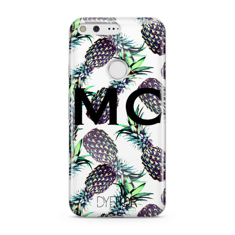Personalised Pineapple Tropical White Google Case