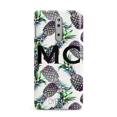 Personalised Pineapple Tropical White Nokia Case