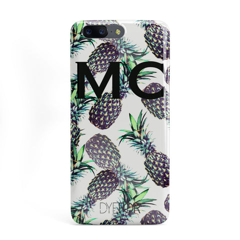 Personalised Pineapple Tropical White OnePlus Case