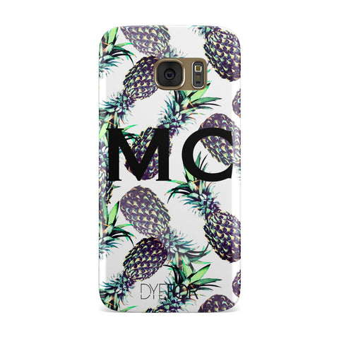 Personalised Pineapple Tropical White Samsung Galaxy Case