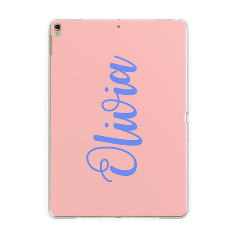 Personalised Pink Blue Name iPad Case