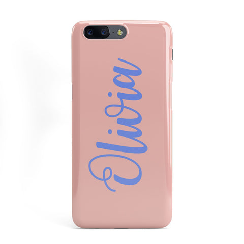 Personalised Pink Blue Name OnePlus Case