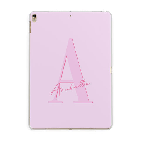 Personalised Pink Initial iPad Case