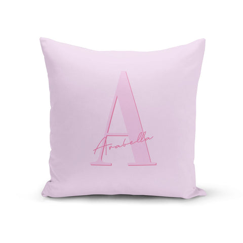 Personalised Pink Initial Cushion