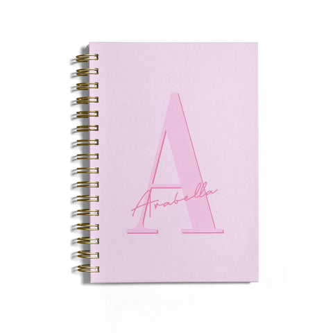 Personalised Pink Initial Notebook