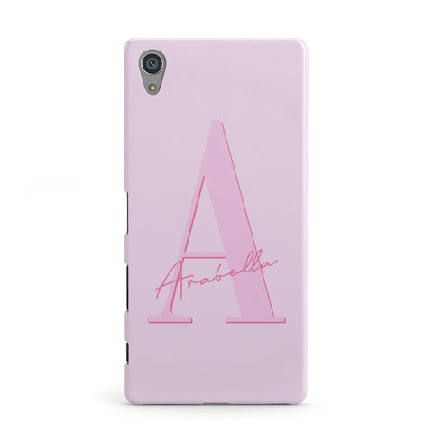 Personalised Pink Initial Sony Case