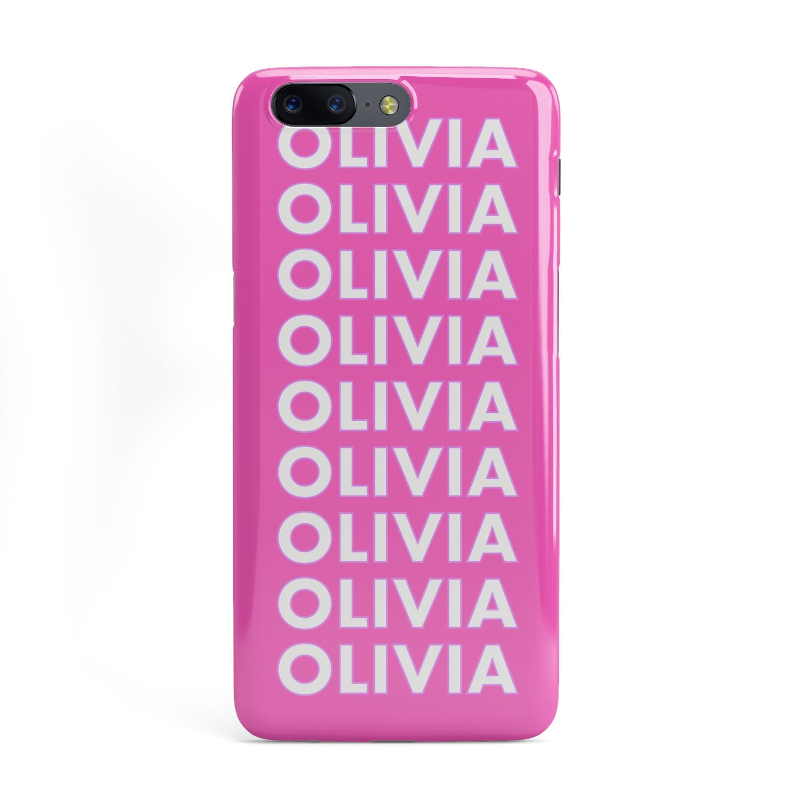 info for 937da 4cbc6 Personalised Pink Names OnePlus Case