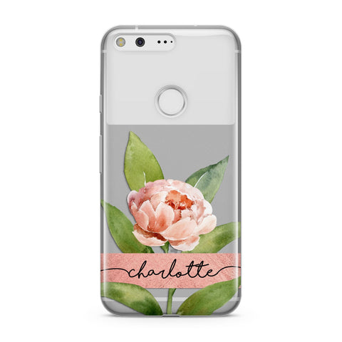 Personalised Pink Peony Google Case