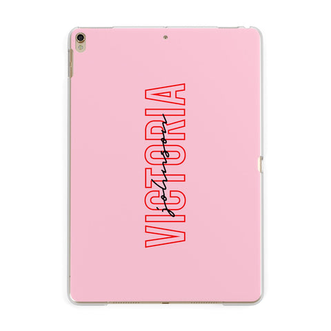 Personalised Pink Red Names iPad Case