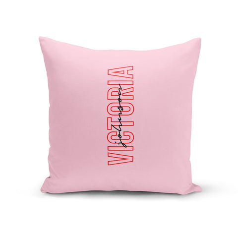 Personalised Pink Red Names Cushion