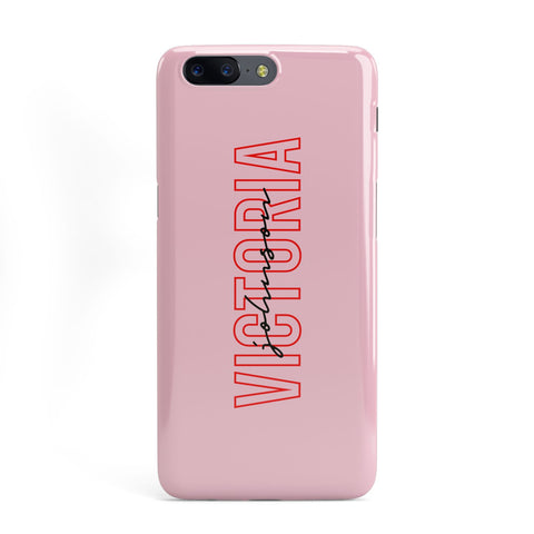 Personalised Pink Red Names OnePlus Case
