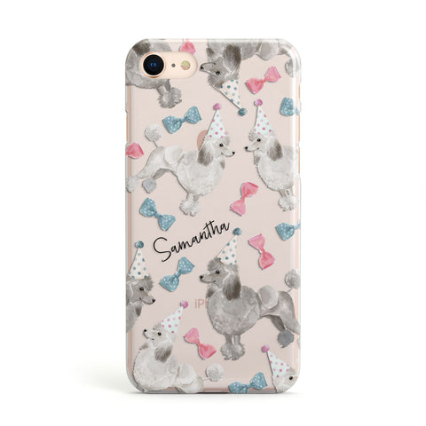 Personalised Poodle Dog iPhone Case
