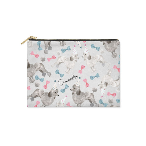 Personalised Poodle Dog Clutch Bag