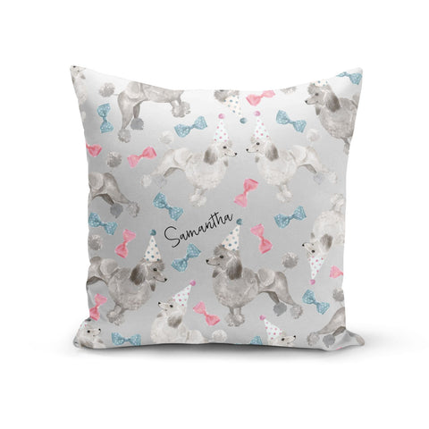 Personalised Poodle Dog Cushion