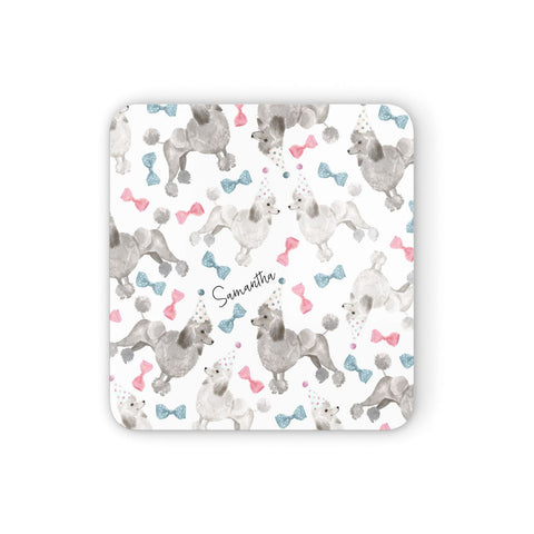 Personalised Poodle Dog Coasters set of 4