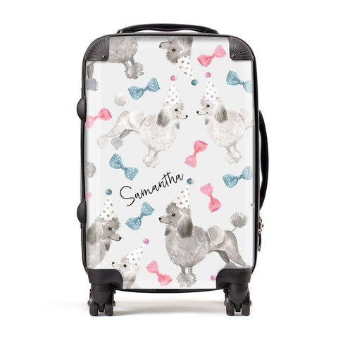 Personalised Poodle Dog Suitcase