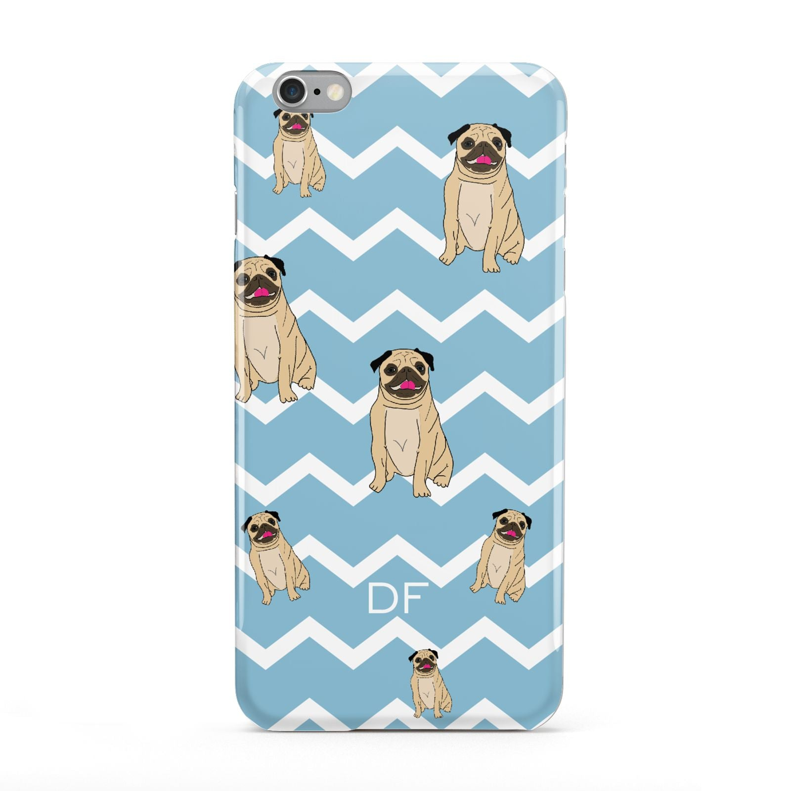 Personalised Pug Initials Apple iPhone 6 Plus Case