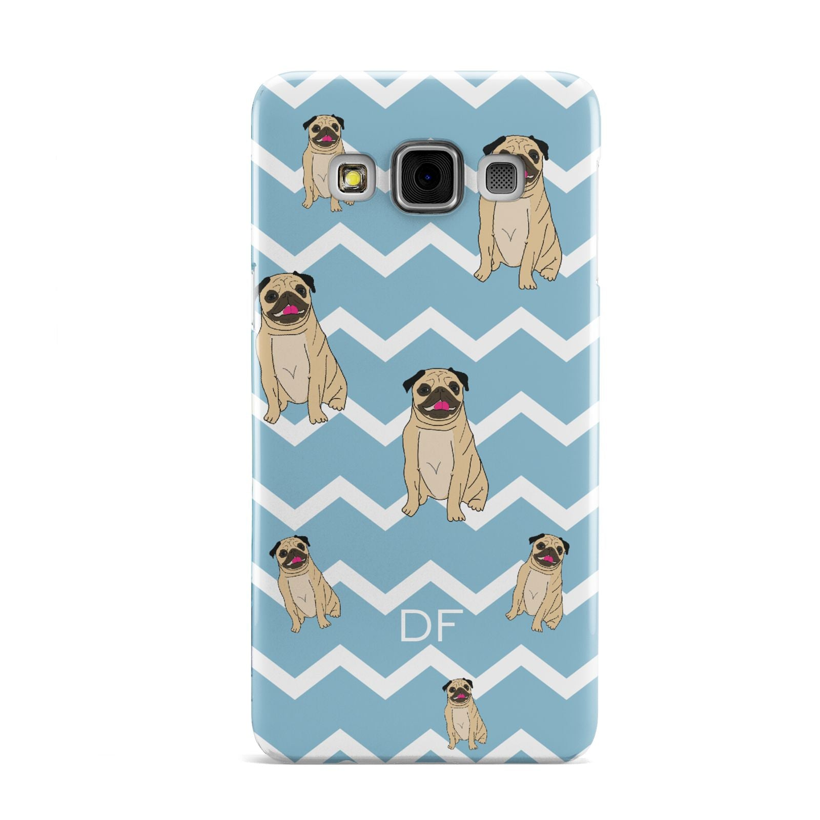 Personalised Pug Initials Samsung Galaxy A3 Case