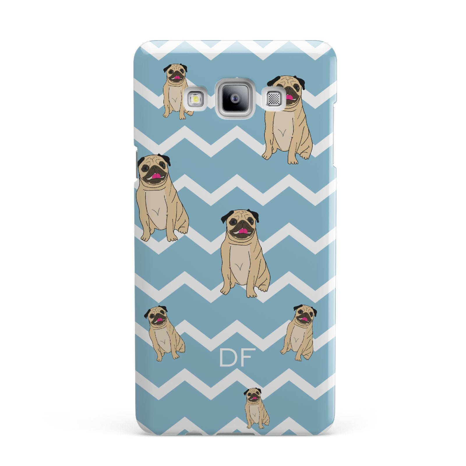 Personalised Pug Initials Samsung Galaxy A7 2015 Case