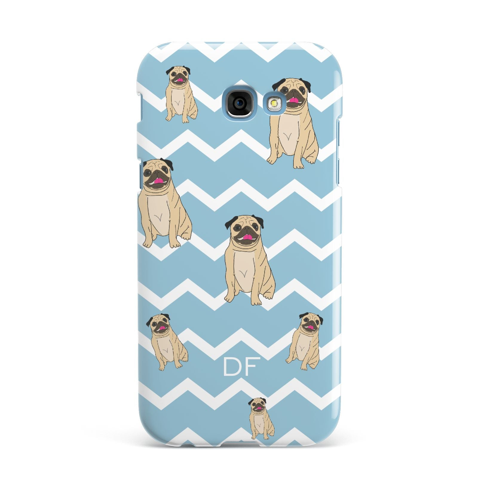 Personalised Pug Initials Samsung Galaxy A7 2017 Case