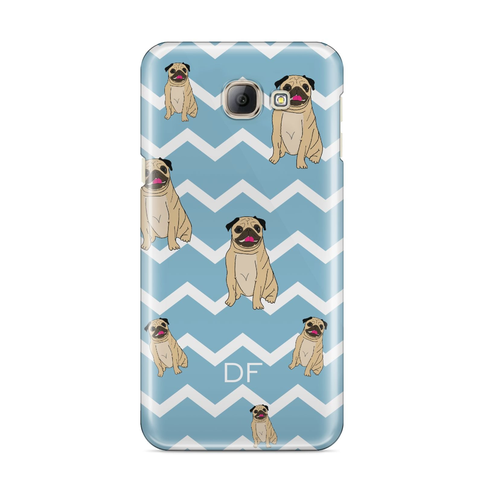 Personalised Pug Initials Samsung Galaxy A8 2016 Case